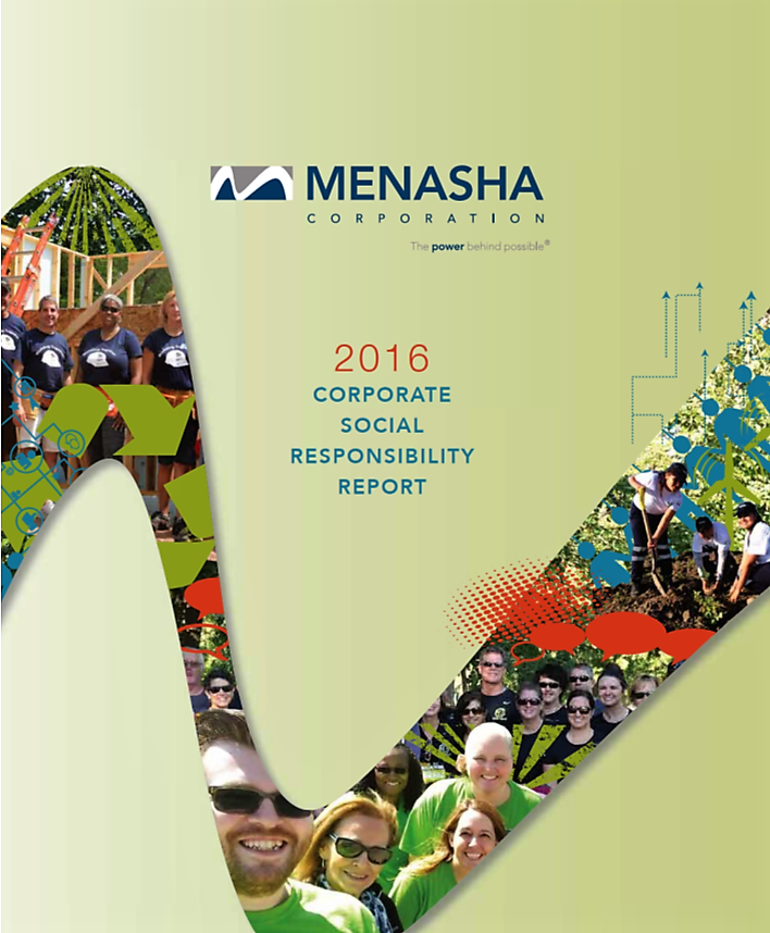 ORBIS® PARENT COMPANY, MENASHA CORPORATION, SHARES CORPORATE SOCIAL RESPONSIBILITY REPORT