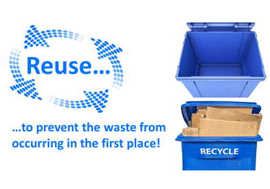 Reuse More to Recycle Less for Greater Impact on Waste