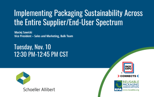 Implementing Packaging Sustainability Across the Entire Supplier/End-User Spectrum