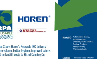 Case Study: Horen's Reusable IBC delivers more volume, better hygiene, improved safety, and no landfill costs to Hirzel Canning Co